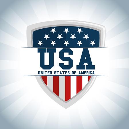 アメリカ合衆国のテーマ ベクトル図の盾  イラスト・ベクター素材
