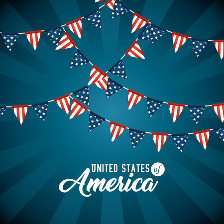 Pennant of United States of America theme Vector illustration Ilustrace
