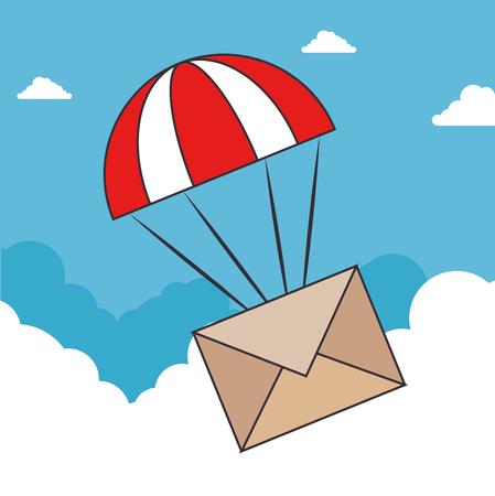 Envelop van e-mail bericht en brief thema vectorillustratie