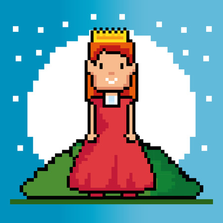 obsession: Princess of Video game theme Vector illustration Illustration