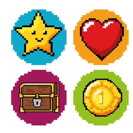 obsession: Icon set of Video game theme Vector illustration
