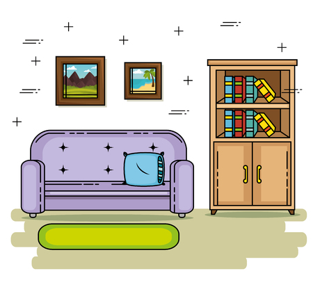 Couch of Home and furniture theme Vector illustration 向量圖像