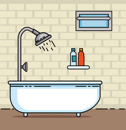 Bathroom of Home and furniture theme Vector illustration