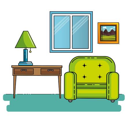 家庭や家具のテーマ ベクトル イラスト講座
