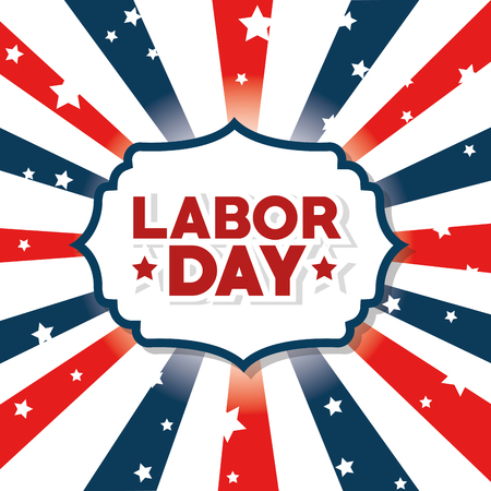 Striped background of Labor day in Usa theme Vector illustration