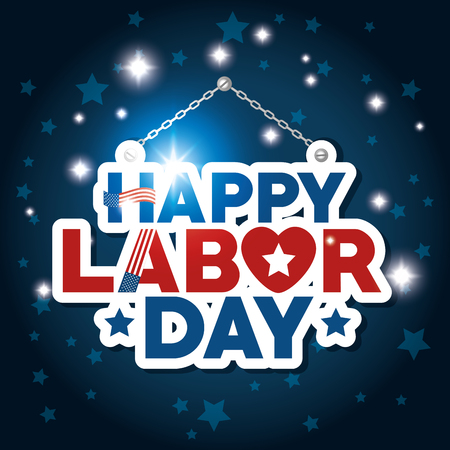 Message of Labor day in Usa theme Vector illustration 向量圖像