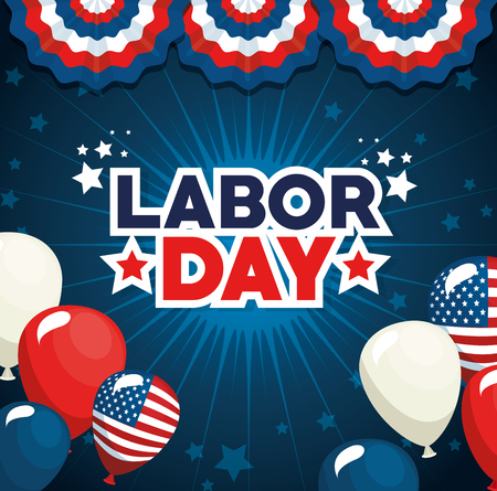 Balloons of Labor day in Usa theme Vector illustration 向量圖像