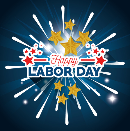 Stars of Labor day in Usa theme Vector illustration