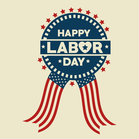 Seal stamp of Labor day in Usa theme Vector illustration Illusztráció