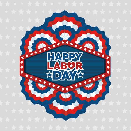 アメリカ テーマ ベクトル図の労働者の日のメッセージ