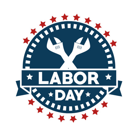 Seal stamp of Labor day in Usa theme Vector illustration Illustration
