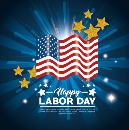 Flag of Labor day in Usa theme Vector illustration 向量圖像
