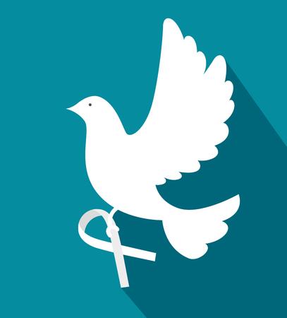 평화와 사랑 테마 벡터 일러스트 레이 션의 비둘기