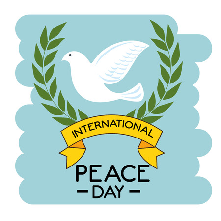 Dove of International peace day theme Vector illustration