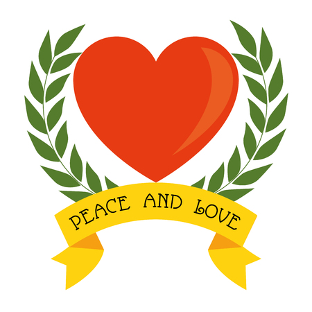 Heart of peace and love theme Vector illustration