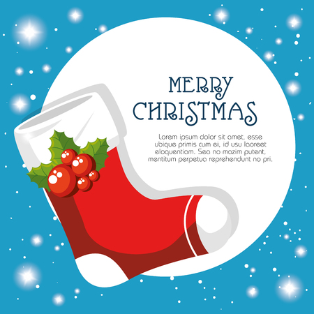 Boot der Frohe Weihnachten Saison Thema Vektor-Illustration