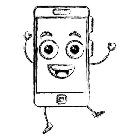 smartphone device   character vector illustration design Illustration