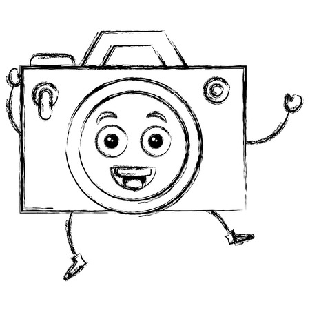 camera photographic   character vector illustration design