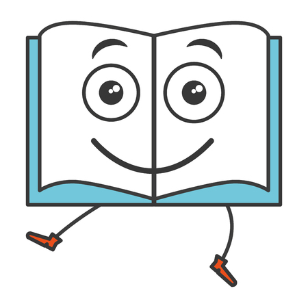 text book   character vector illustration design