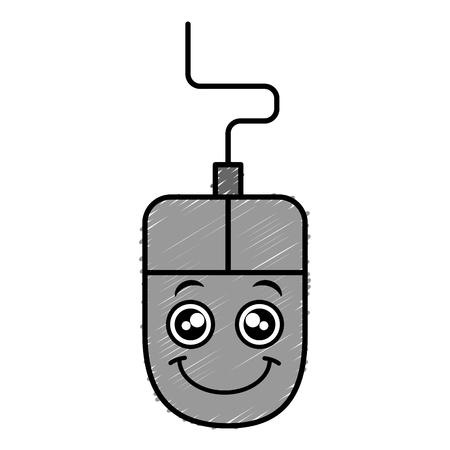 computer muis karakter vector illustratie ontwerp