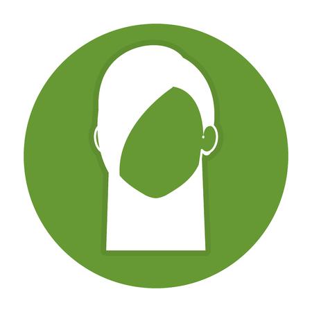 beautiful woman head avatar character vector illustration design Illustration