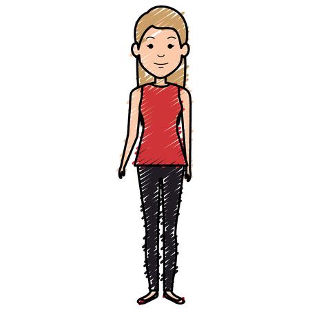 beautiful businesswoman avatar character vector illustration design