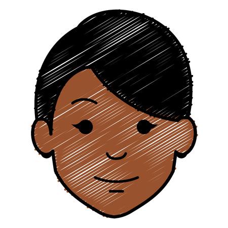 beautiful woman head avatar character vector illustration design Ilustrace