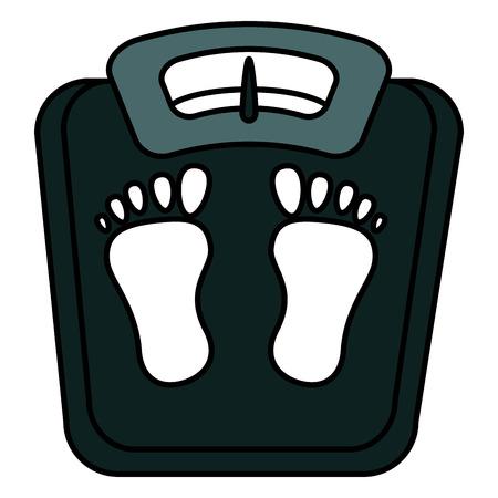 Schaalgewicht meet icoon vector illustratie ontwerp