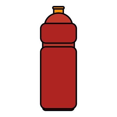 Bottle gym icon isolated