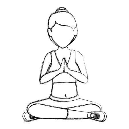 Female doing yoga vector illustration design Stock Vector - 84733501