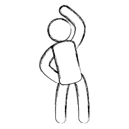 Menselijk silhouet die ontwerp van de oefenings het vectorillustratie doen