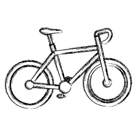 Bicycle race isolated icon vector illustration design Illustration