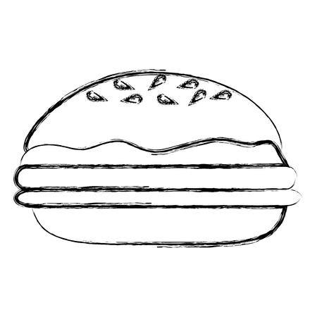 Delicious burger isolated icon vector illustration design Illustration