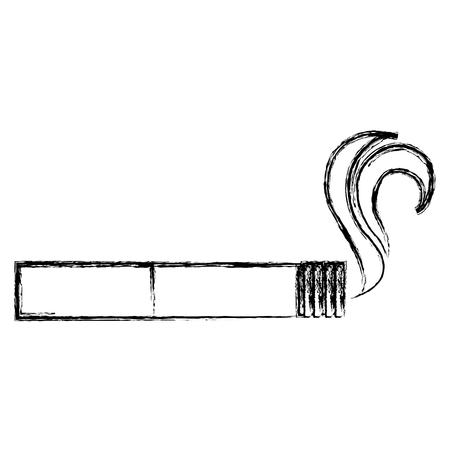 격리 된 아이콘 벡터 일러스트 디자인에 담배