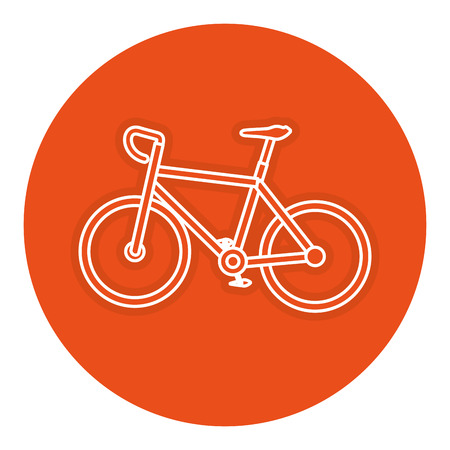 A bicycle race isolated icon vector illustration design