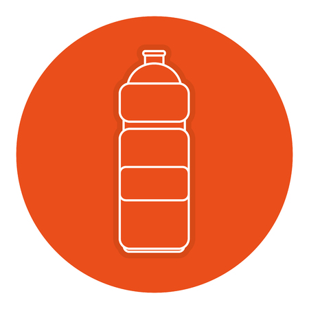 A bottle gym isolated icon vector illustration design 向量圖像