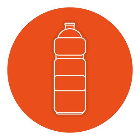 A bottle gym isolated icon vector illustration design Illustration