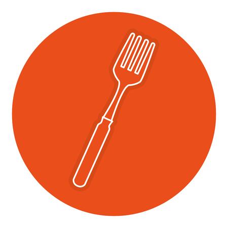 Een vork bestek geïsoleerd pictogram vector illustratie ontwerp.