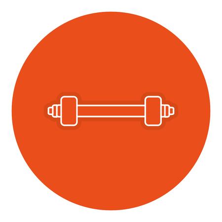 Gimnasio levantar gimnasio icono ilustración vectorial de diseño Foto de archivo - 84737399