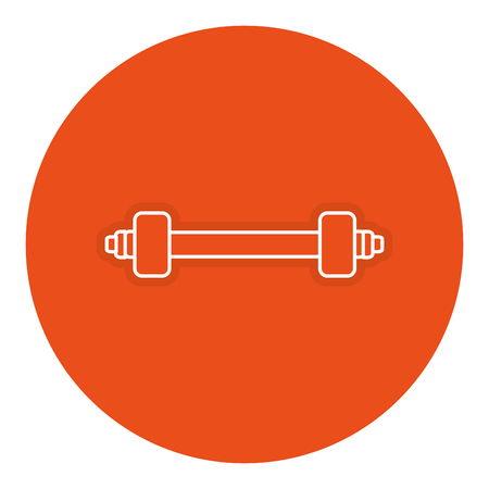 Weight lifting gym icon vector illustratie ontwerp