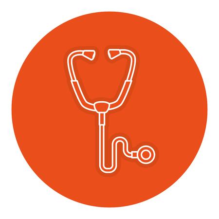 Medisch de illustratieontwerp van het Stethosocpe medisch geïsoleerd pictogram