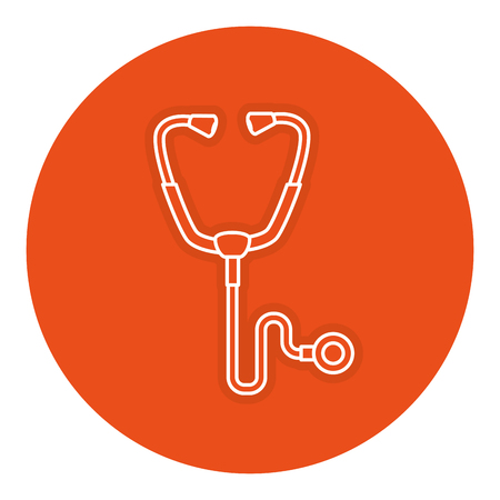 Stethosocpe medical isolated icon vector illustration design
