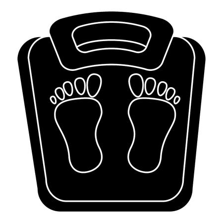 schaal gewicht meet icoon vector illustratie ontwerp Stock Illustratie