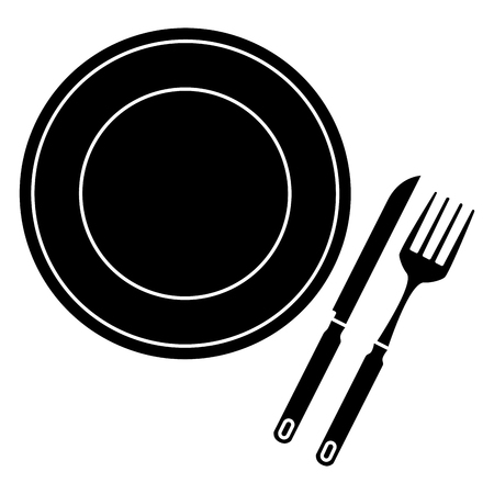 Fork and knife cutlery isolated icon vector illustration design