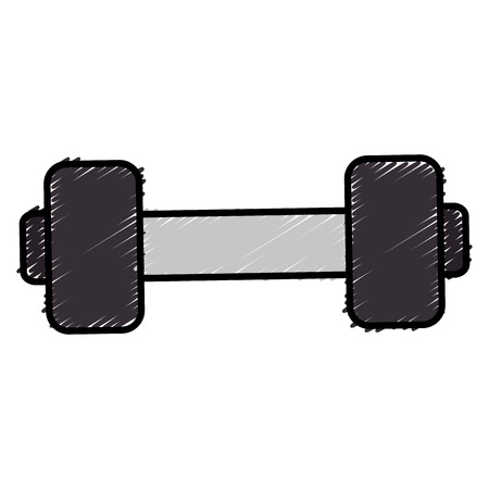 A weight lifting gym icon vector illustration design.