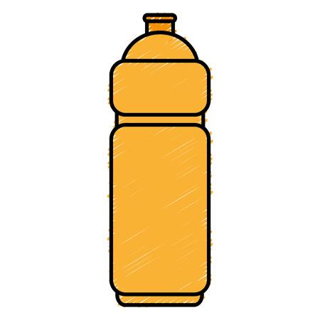 ボトルのジムは、アイコン ベクトル イラスト デザインを分離しました。
