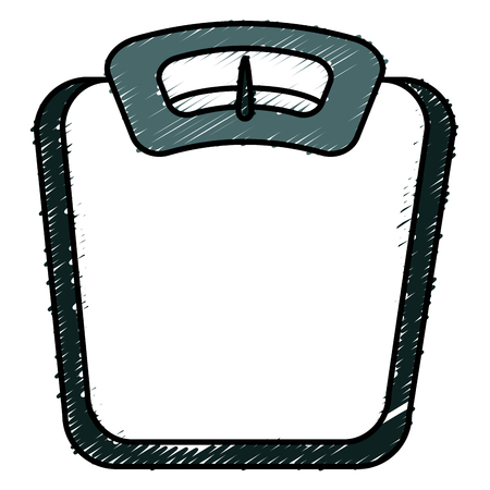 Ontwerp van de het pictogram het vectorillustratie van de schaalgewichtmaat.