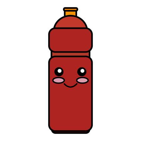 bottle gym kawaii character vector illustration design Çizim