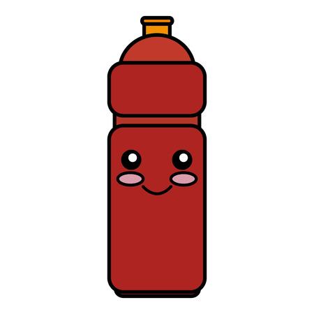 bottle gym kawaii character vector illustration design Illustration