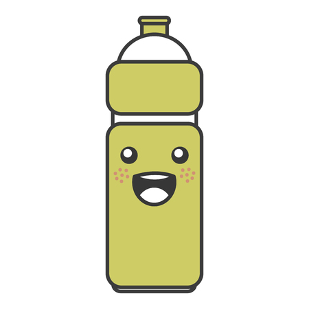 Bottle gym kawaii character vector illustration design.